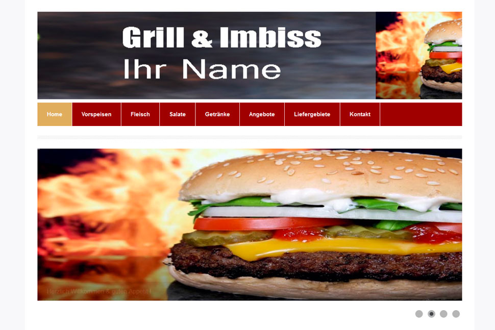 Grill Imbiss Webseite